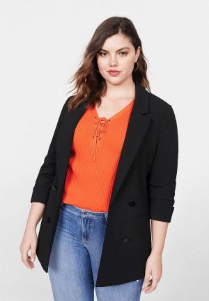 Пиджак Violeta by Mango - FLOW5. Цвет: черный