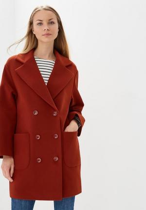Пальто Ruxara. Цвет: оранжевый