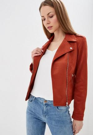 Куртка кожаная Dorothy Perkins. Цвет: красный