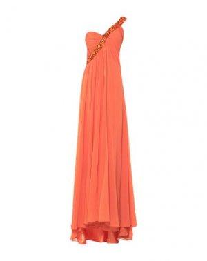 Длинное платье CARLO PIGNATELLI. Цвет: оранжевый