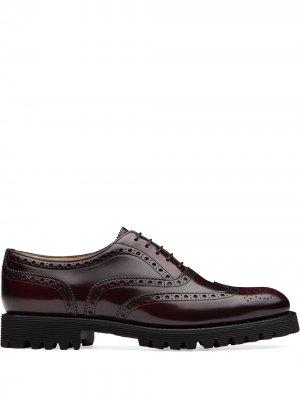 Churchs Carla polished brogue shoes Church's. Цвет: красный