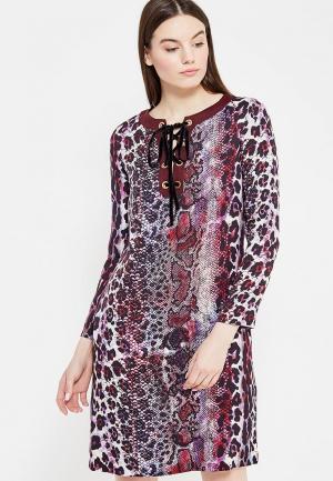Платье Just Cavalli. Цвет: бордовый
