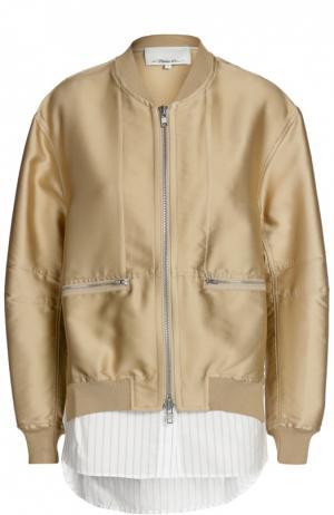 Куртка-бомбер 3.1 Phillip Lim. Цвет: бежевый