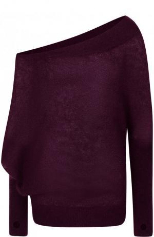 Однотонный пуловер с открытым плечом Tom Ford. Цвет: фиолетовый