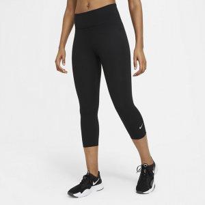 Женские капри со средней посадкой One - Черный Nike