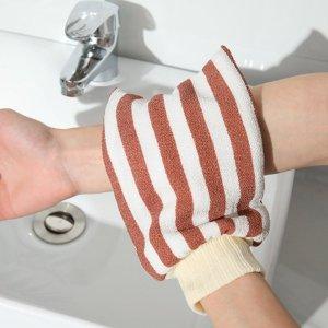 1шт Отшелушивающая банная перчатка случайный в полоску SHEIN. Цвет: многоцветный