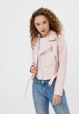 Куртка кожаная Softy. Цвет: розовый