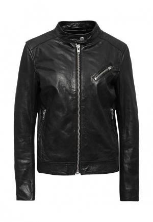 Куртка кожаная Blouson BL033EWQGN30. Цвет: черный