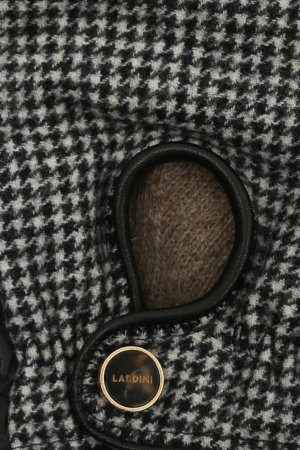 Перчатки из кожи и трикотажа Lardini. Цвет: серый