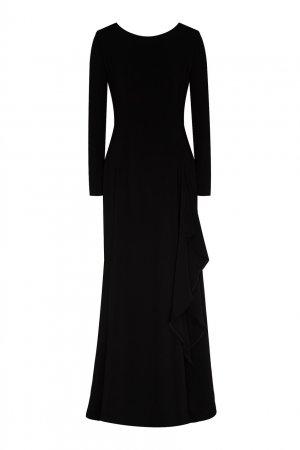 Черное платье из вискозы Chapurin. Цвет: черный