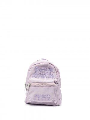 Embroidered logo-design backpack Kenzo. Цвет: фиолетовый