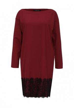 Платье Levall. Цвет: бордовый