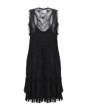 Короткое платье PF PAOLA FRANI. Цвет: черный