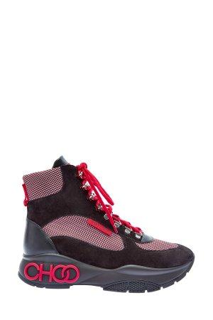 Высокие кроссовки с объемным лого на подошве JIMMY CHOO. Цвет: мульти