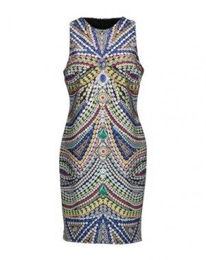 Платье до колена GAI MATTIOLO. Цвет: синий