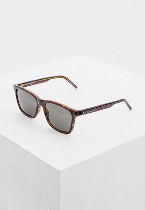 Очки солнцезащитные Saint Laurent SL 318 002. Цвет: коричневый