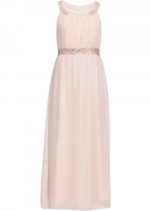 Платье макси bonprix. Цвет: розовый