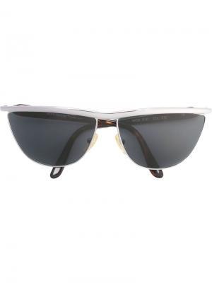 Солнцезащитные очки с оправой кошачий глаз Versace Vintage. Цвет: коричневый