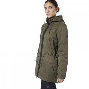 Парка Outerwear Fleece Reebok. Цвет: army green