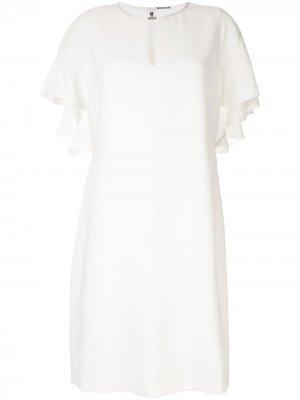 Креповое платье odore Elie Tahari. Цвет: белый