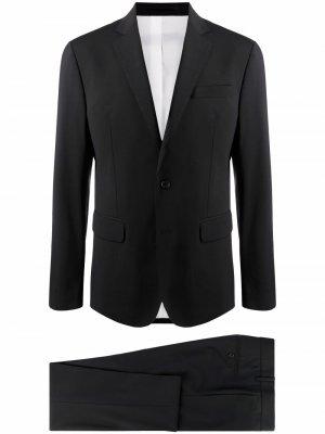 Костюм-двойка с однобортным пиджаком Dsquared2. Цвет: черный