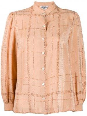 Блузка 1970-х годов в клетку Louis Feraud Pre-Owned. Цвет: нейтральные цвета