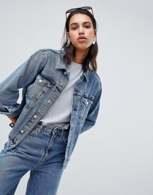 Джинсовая куртка Weekday. Цвет: синий