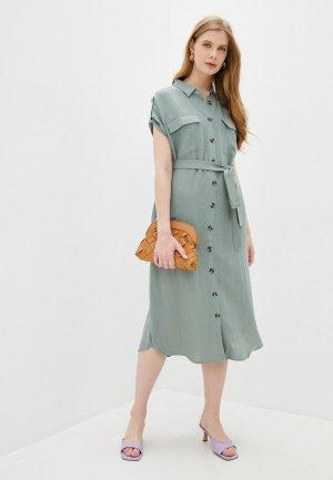 Платье Vilatte. Цвет: зеленый