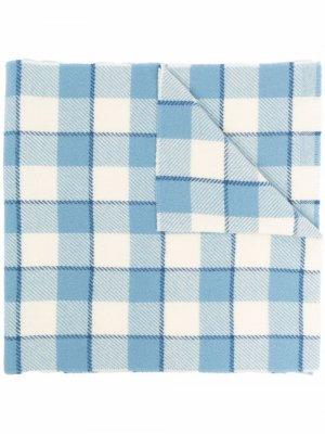 Check-print wool scarf Acne Studios. Цвет: синий