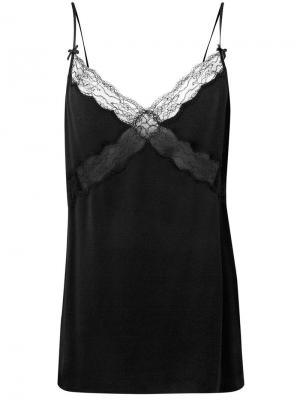 Lace trimmed slip top Michael Kors Collection. Цвет: черный
