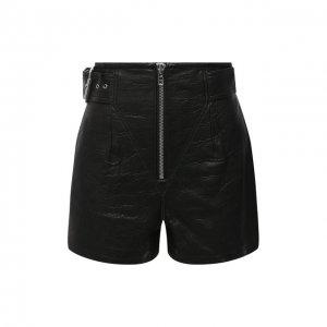 Кожаные шорты GRLFRND. Цвет: чёрный