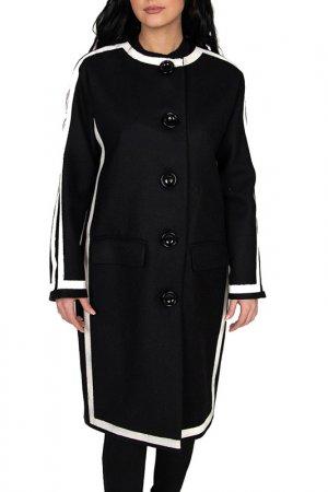 Пальто Moschino. Цвет: черный