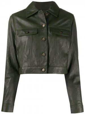 Укороченная куртка Michael Kors. Цвет: зеленый