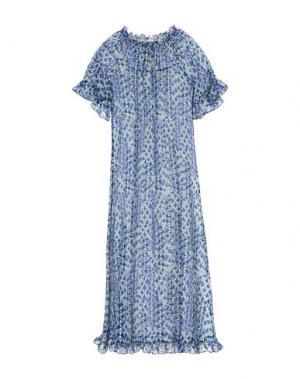 Платье длиной 3/4 BINI Como. Цвет: синий