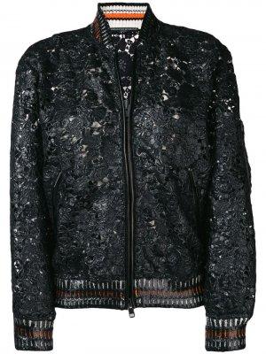 Текстурная куртка-бомбер Ermanno Scervino. Цвет: черный