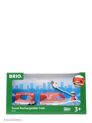 Пассажирский поезд  с USB подзарядкой BRIO. Цвет: красный