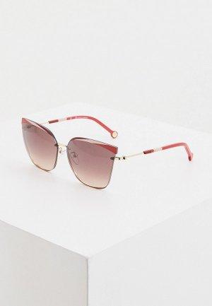 Очки солнцезащитные Carolina Herrera 147-H33. Цвет: бордовый