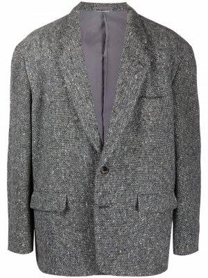 Пиджак оверсайз с приспущенными плечами 1990-х годов Comme Des Garçons Pre-Owned. Цвет: серый