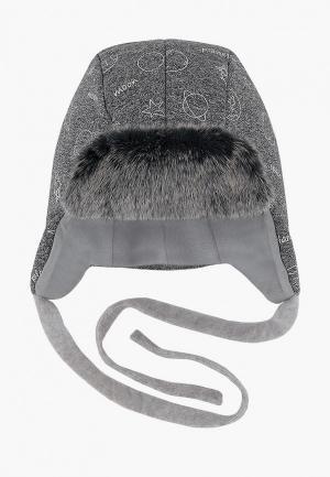 Шапка Broel Fox. Цвет: серый