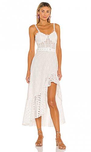 Платье с асимметричным подолом julie Charo Ruiz Ibiza. Цвет: белый