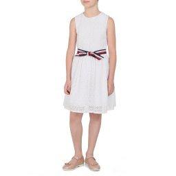 Платье KG0KG04850 белый TOMMY HILFIGER