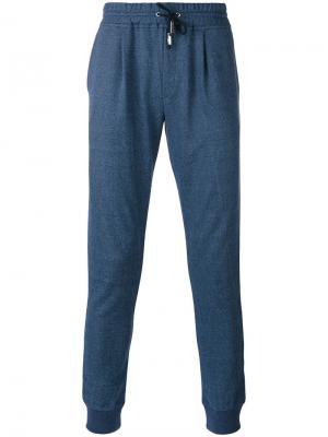 Классические спортивные брюки Eleventy. Цвет: синий