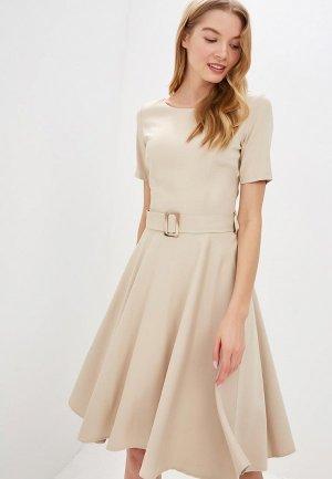 Платье Perspective. Цвет: бежевый