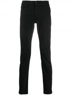 Зауженные джинсы скинни Ronnie Lux Performance 7 For All Mankind. Цвет: черный