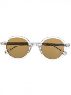Солнцезащитные очки Bakayoko в круглой оправе Etudes. Цвет: белый