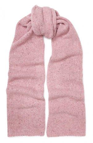 Шерстяной шарф Joseph. Цвет: розовый