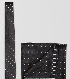 Галстук и платок для пиджака New Look. Цвет: черный