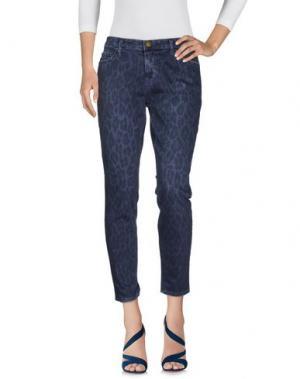 Джинсовые брюки CURRENT/ELLIOTT. Цвет: грифельно-синий