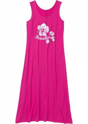 Ночная сорочка bonprix. Цвет: ярко-розовый
