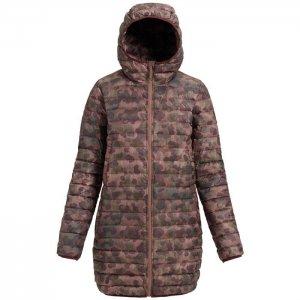Куртка пуховик Evergreen Long Down Burton. Цвет: розовый